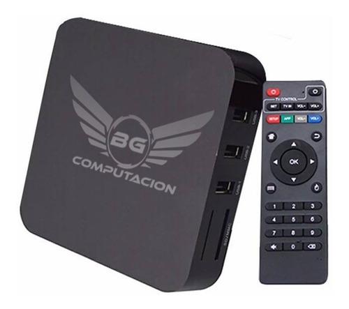 convertidor smart tv box convertir tv android 7 8gb 4k