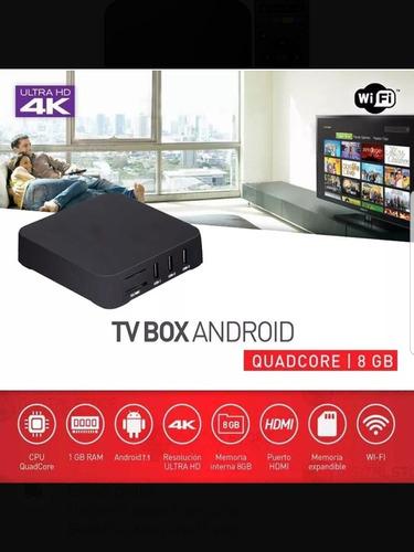 convertidor smart tv box convertir tv android 8gb 4k promo!!