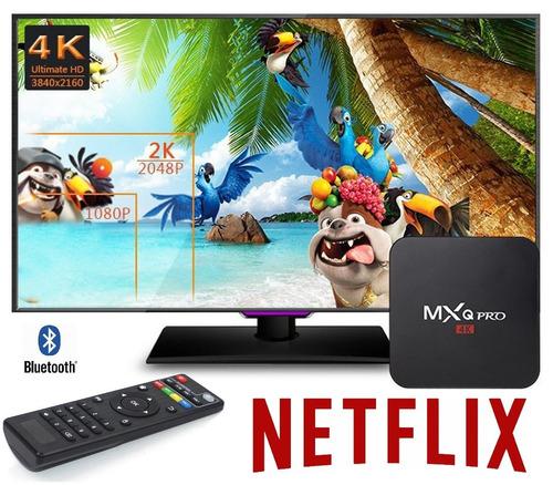 convertidor smart tv box mxq pro 2gb 16gb 4k android 7 cast