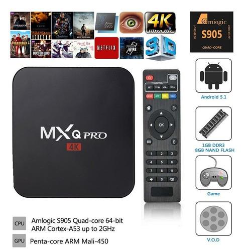convertidor smart tv box mxq pro 4k netflix android + cuotas