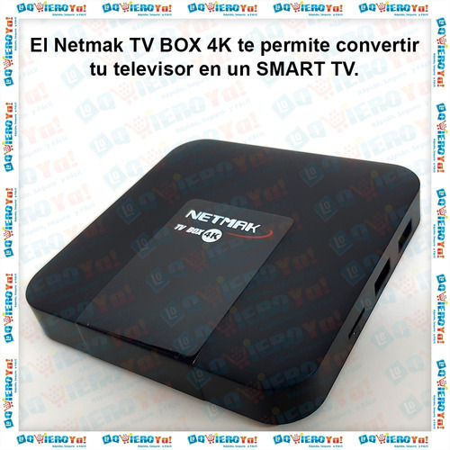 convertidor smart tv box nemak 4k 16gb rom 2.4ghz android tv box netflix series control remoto