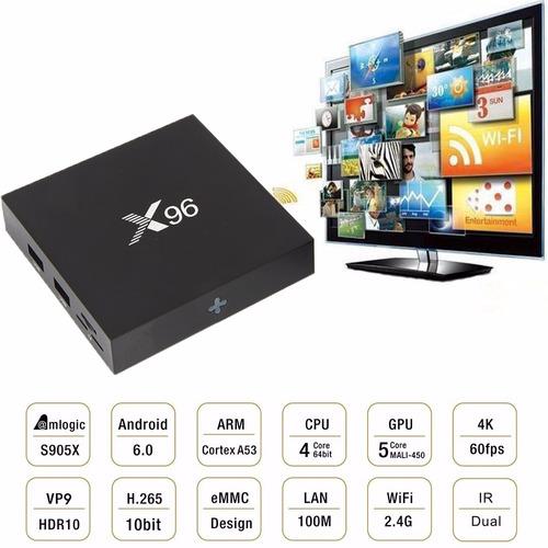 convertidor smart tv box x96 2gb 8gb android 6 4k + teclado