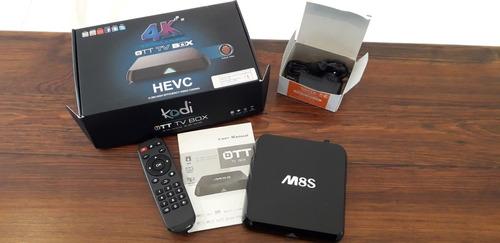 convertidor smart tv box y mini teclado inalambrico