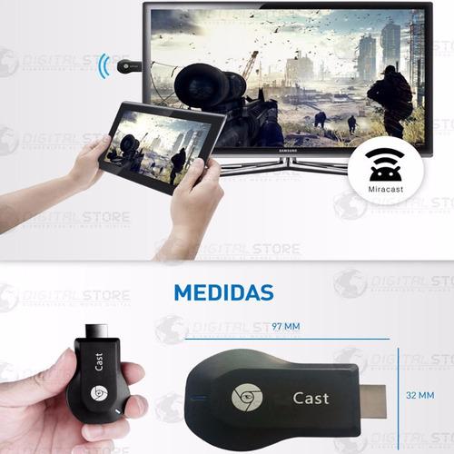 convertidor smart tv ezcast m2 simil chromecast android ios