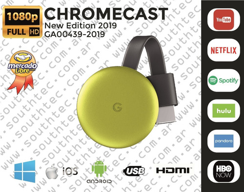 convertidor smart tv google chromecast g3 ed. 2019 promoxhoy