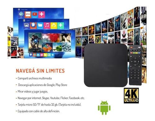 convertidor smart tv mini tv core quad 4k android 6.0 8gb