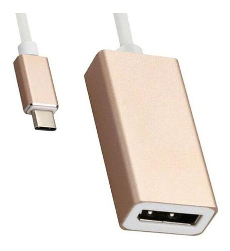 convertidor tipo c display port dp adaptador macbook