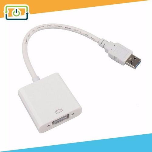 convertidor usb a vga laptop pc monitor proyector 3.0 y 2.0