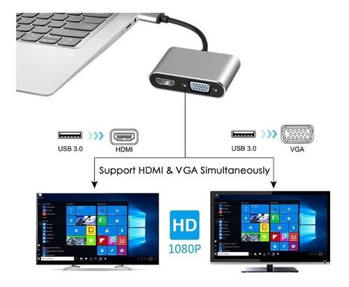 convertidor usb vga y hdmi 3.0 video pantalla extendida