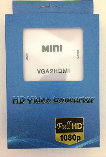 convertidor vga a hdmi 1080p con audio