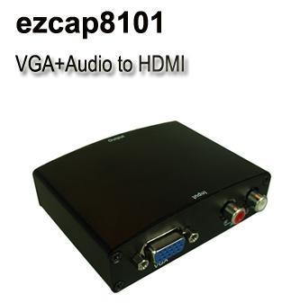 convertidor vga a hdmi con r / l audio usa tu pc a tv hdmi
