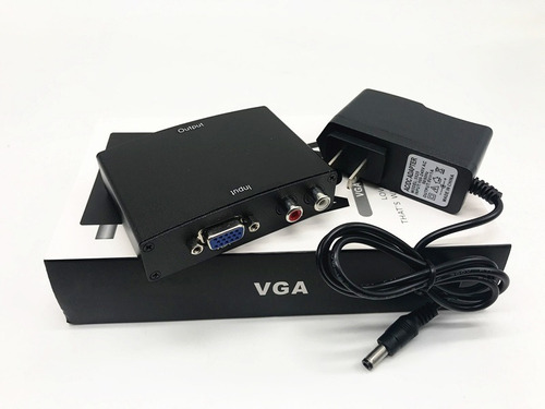 convertidor vga a hdmi profesional con transformador y cable