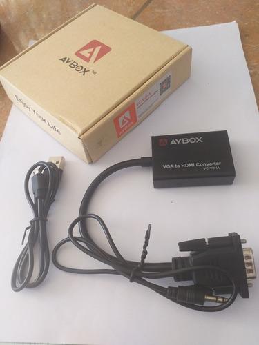 convertidor vga a hdmi salida 1080p hd audio tv av hdtv.