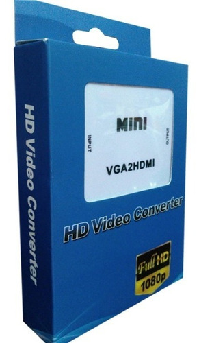 convertidor vga a hdmi tv monitor portatiles pc + audio