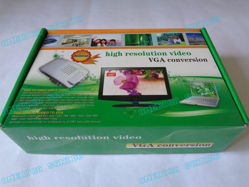 convertidor vga a rca super videro pc laptop a tv video beam