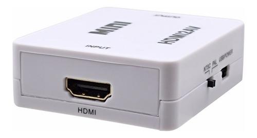 convertidor video hdmi a rca av tv antigua nuevo garantia