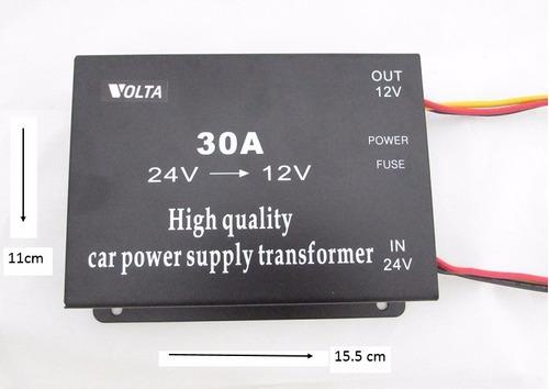 convertidor volta transformador de voltaje  de 24v a 12v 30a