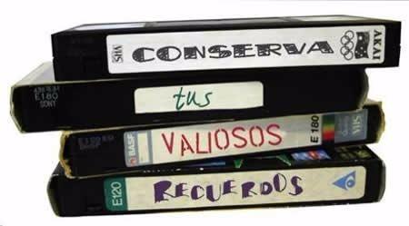 convertimos de vhs a dvd.