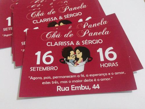 convite 10x7 + envelope + adesivos - 10 unidades