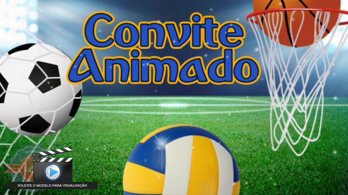 Convite Animado Bolas De Esportes - R  25 faf1222a16275