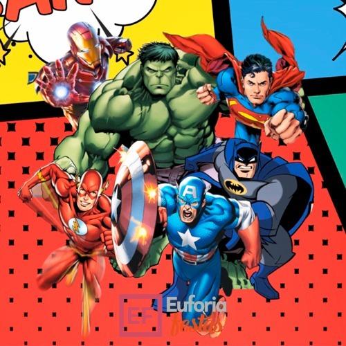 Convite Animado Super Heróis R 5500 Em Mercado Livre