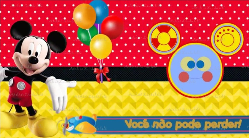 Convite Animado Turma Do Mickey Mouse Com 10 Fotos