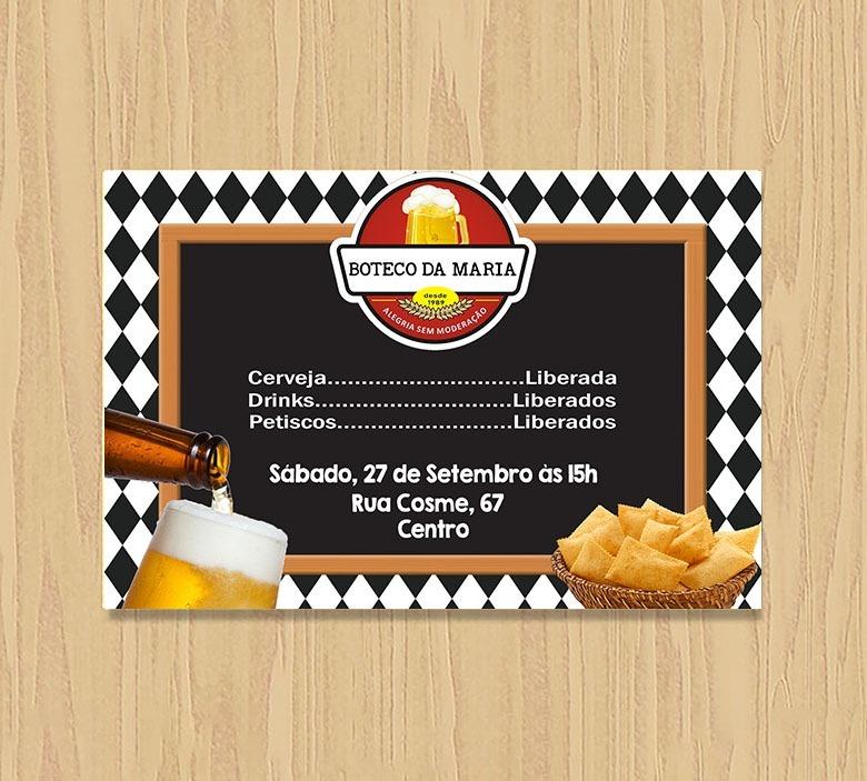 Convite Aniversário Adulto Digital Boteco R 1999 Em Mercado Livre