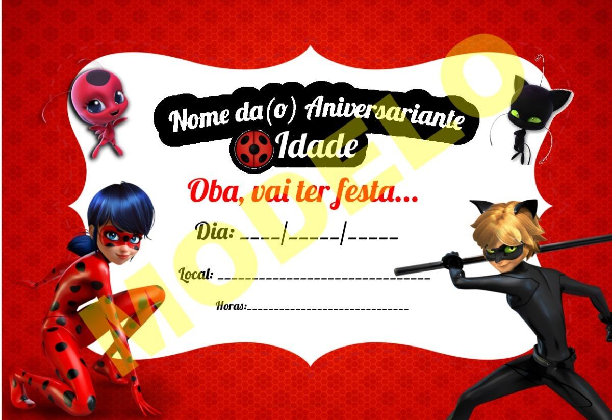 Convite Aniversário Ladybug Personlizado P/ Imprimir - R ...