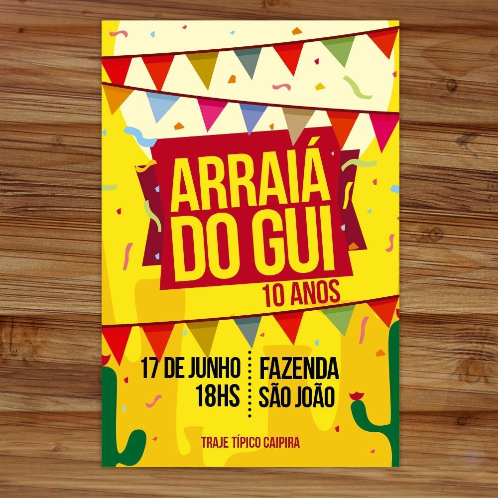 Convite Aniversário Tema Festa Junina Arraía Arte Digital R 29