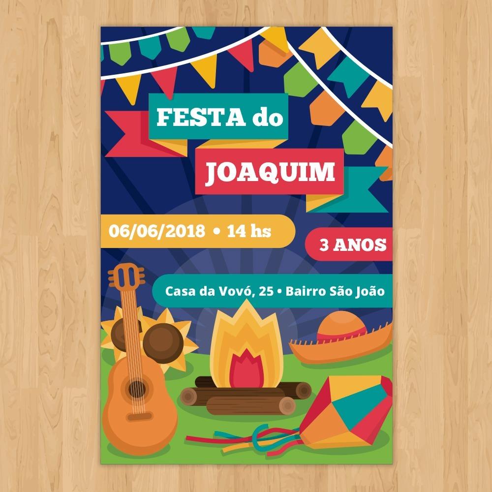 Convite Aniversário Tema Festa Junina Arte Digital R 2990 Em