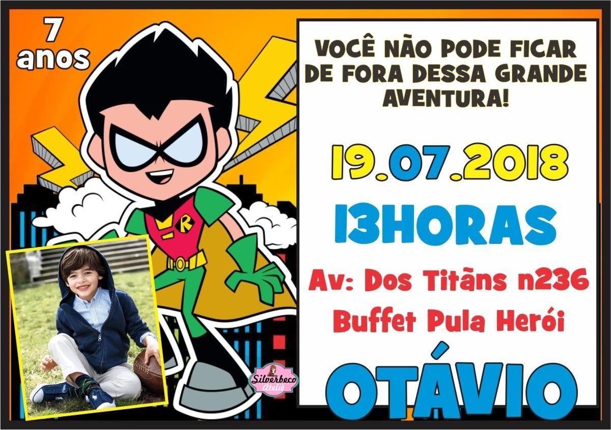 Convite Arte Digital Jovens Titãs Rf51 R 1990 Em Mercado Livre