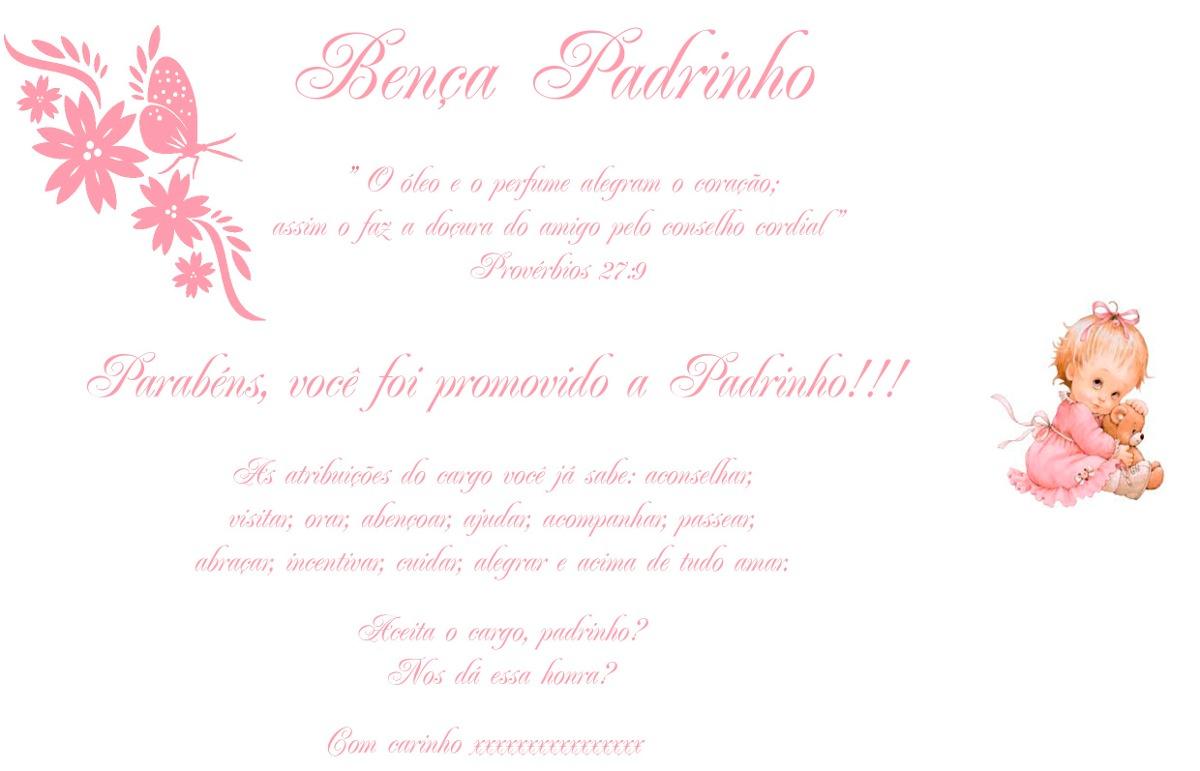 Convite Batizado Padrinhos 2unidades R 2000 Em Mercado Livre
