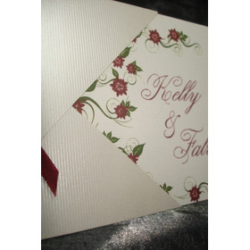 Convite Casamento Cintilante E Vermelho