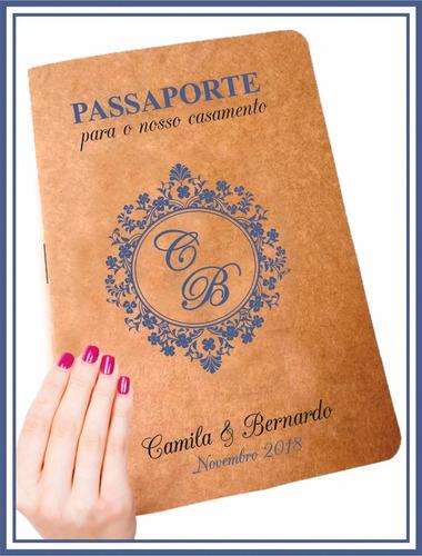 convite casamento noivado passaporte viagem divertido