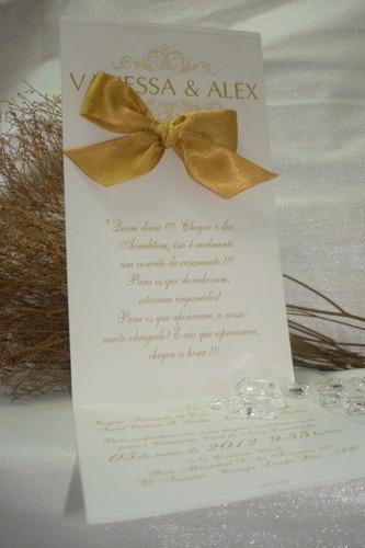 convite casamento nos tons ouro