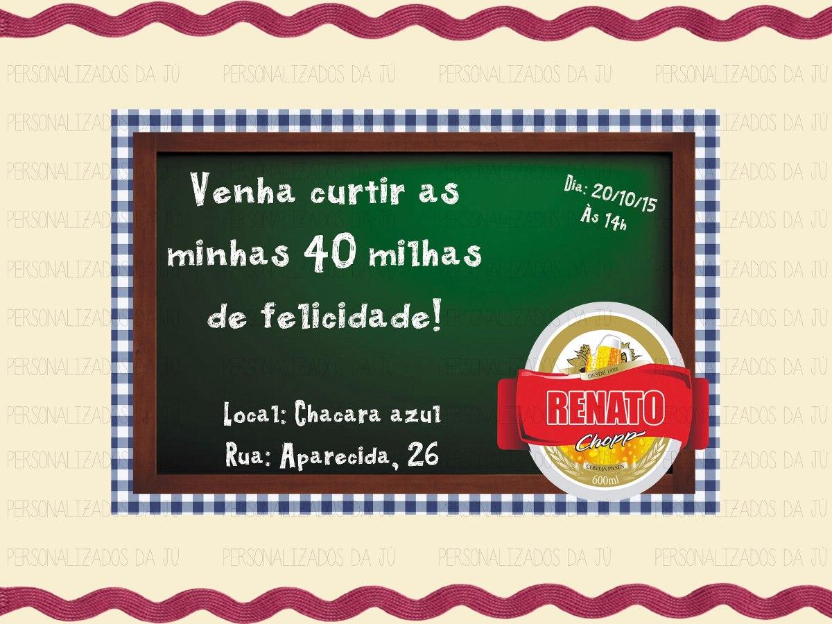 Convite Chá Bar Boteco Personalizado Azul R 5600 Em Mercado Livre