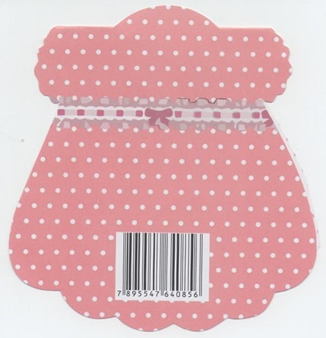 convite cha bebe vestido rosa/branco (10 unidades)