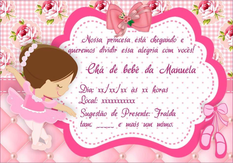 Convite Chá De Bebê Fralda 10x07 Com 50 R 3000 Em Mercado Livre