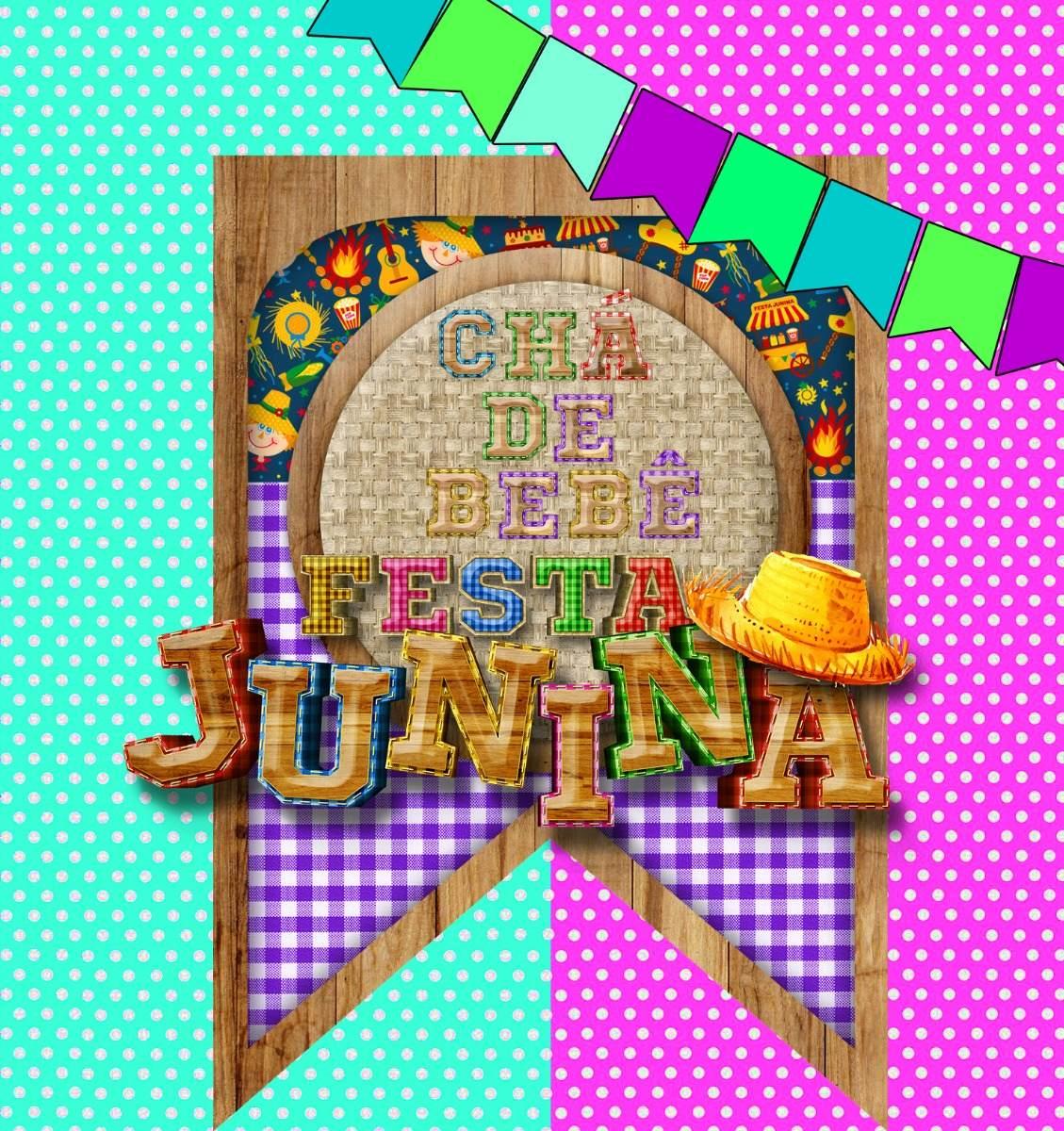 Convite Chá De Bebê Virtual Animado Tema Festa Junina Julina R 40