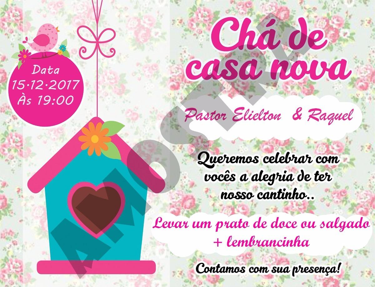 Convite Chá De Casa Nova 70 Unidades R 4500 Em Mercado Livre