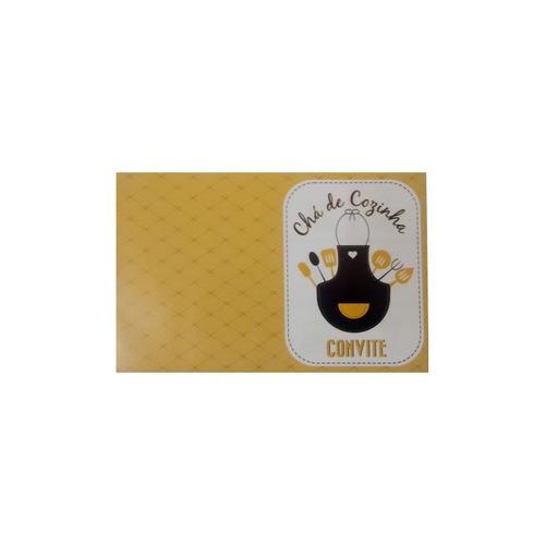 convite chá de cozinha - pacote c/ 10 unidades