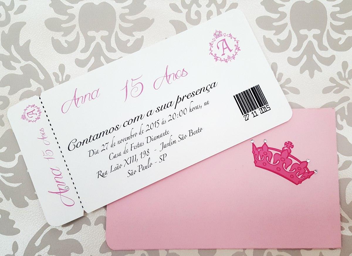 Convite De Quinze Anos: Convite De 15 Anos, Festa Debutante Rosa