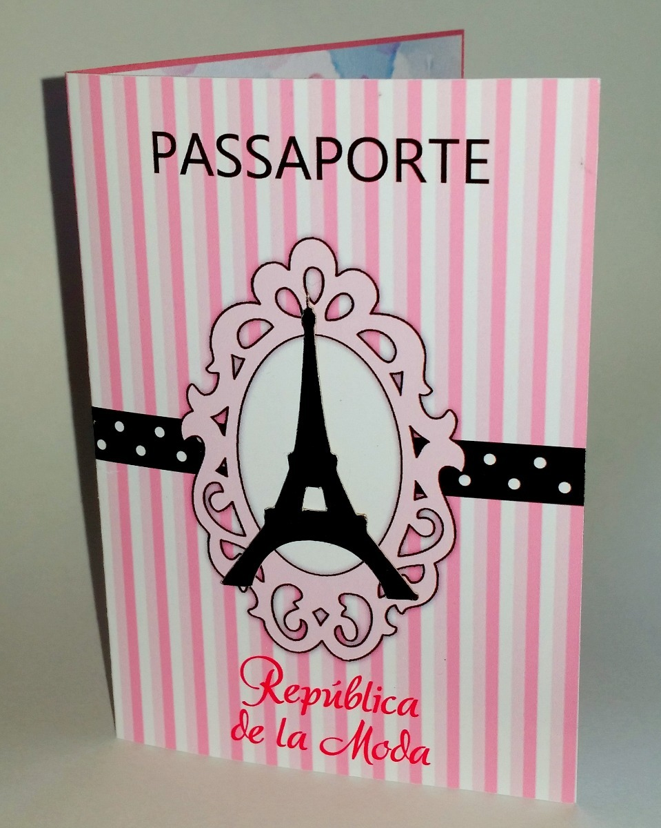 Convite De Aniversario Passaporte Paris Arte Digital R 15 00