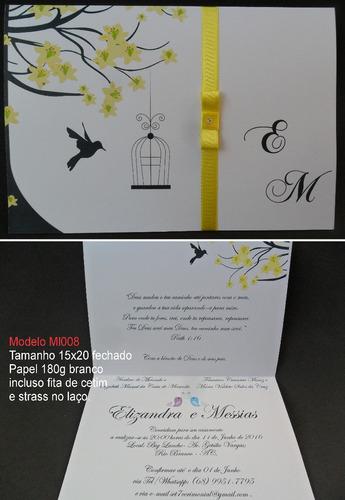 convite de casamento barato (100un)frete grátis