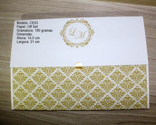 convite de casamento barato - ce11 - 20 unidades - promoção