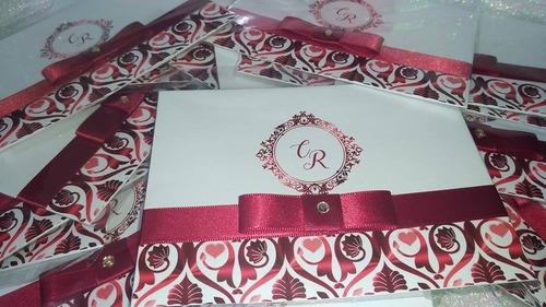 convite de casamento - gs111.2 - kit 100 unid