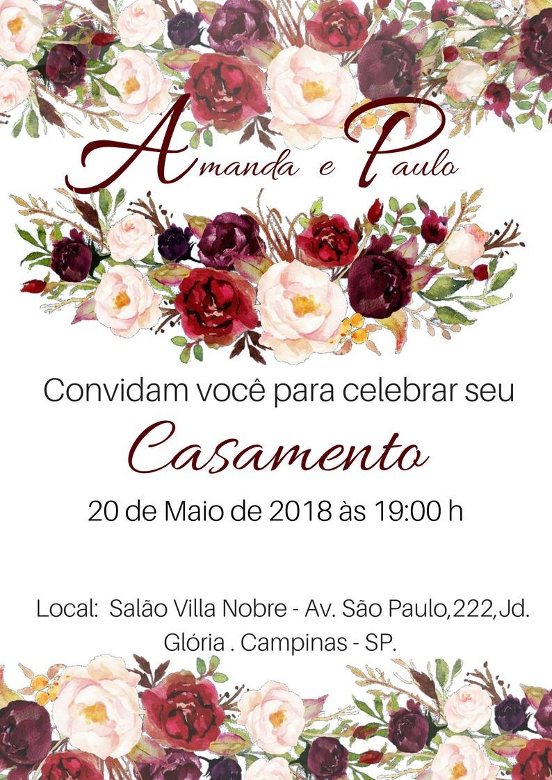 Convites De Casamento Online Wwwmiifotoscom