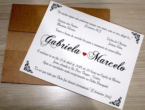 convite de casamento rustico promoção 20 uni. modelo cr00