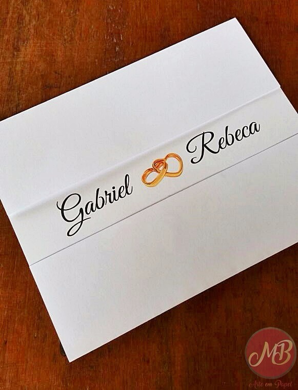 Convite De Casamento Simples Bonito E Barato 25 Unidades R 36
