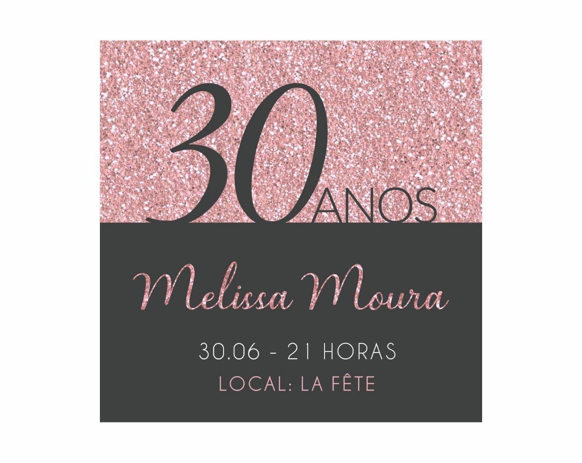 Convite Digital Aniversário 30 40 50 Anos Feminino Virtual R 15